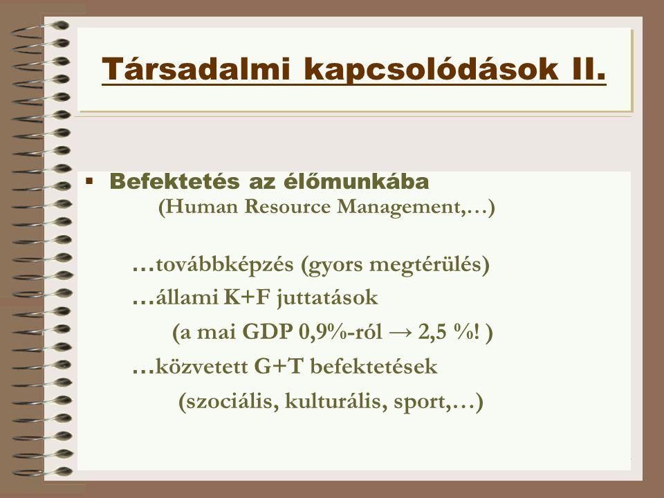 Társadalmi kapcsolódások II.