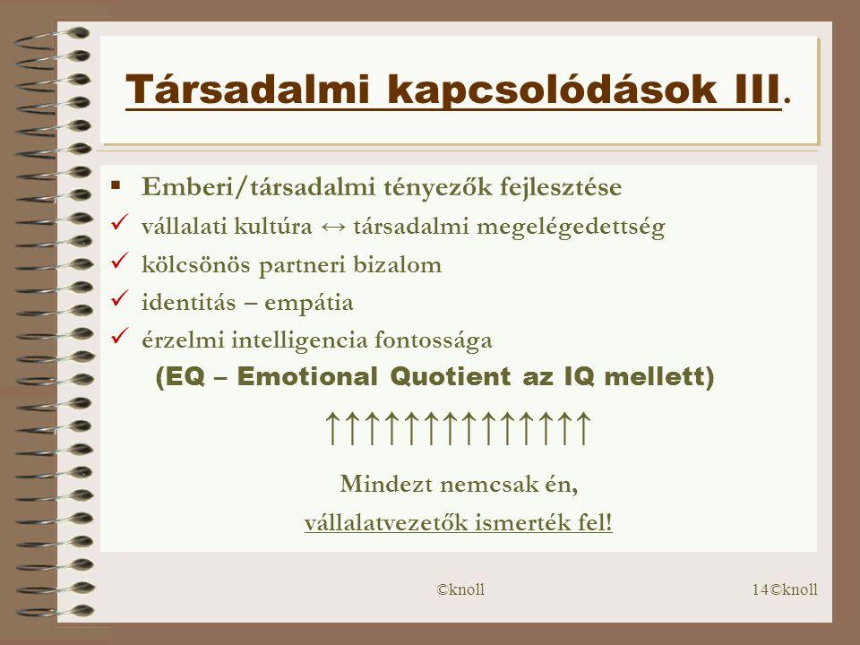 Társadalmi kapcsolódások III.