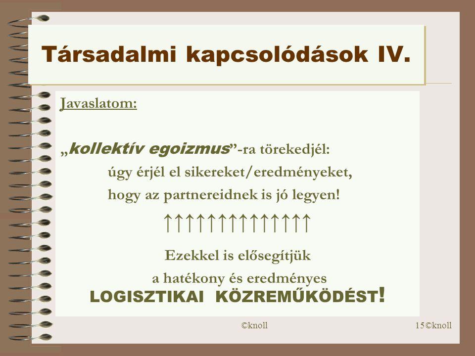 Társadalmi kapcsolódások IV.