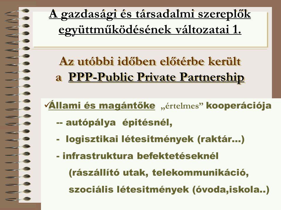 A gazdasági és társadalmi szereplők együttműködésének változatai 1
