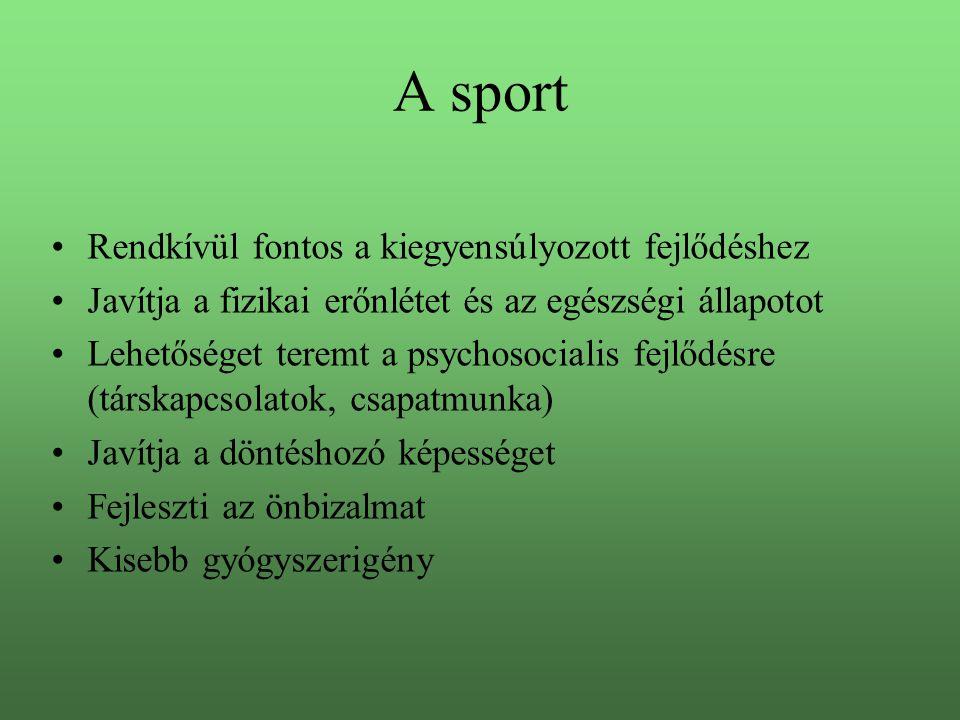 A sport Rendkívül fontos a kiegyensúlyozott fejlődéshez