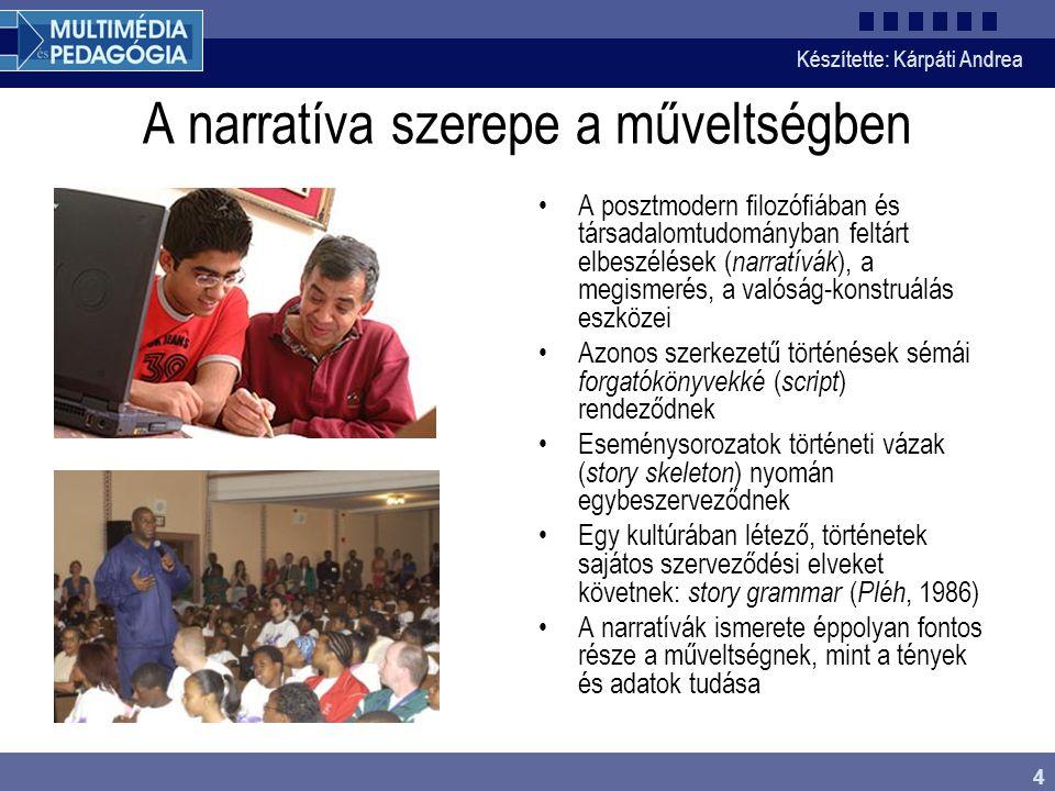 A narratíva szerepe a műveltségben
