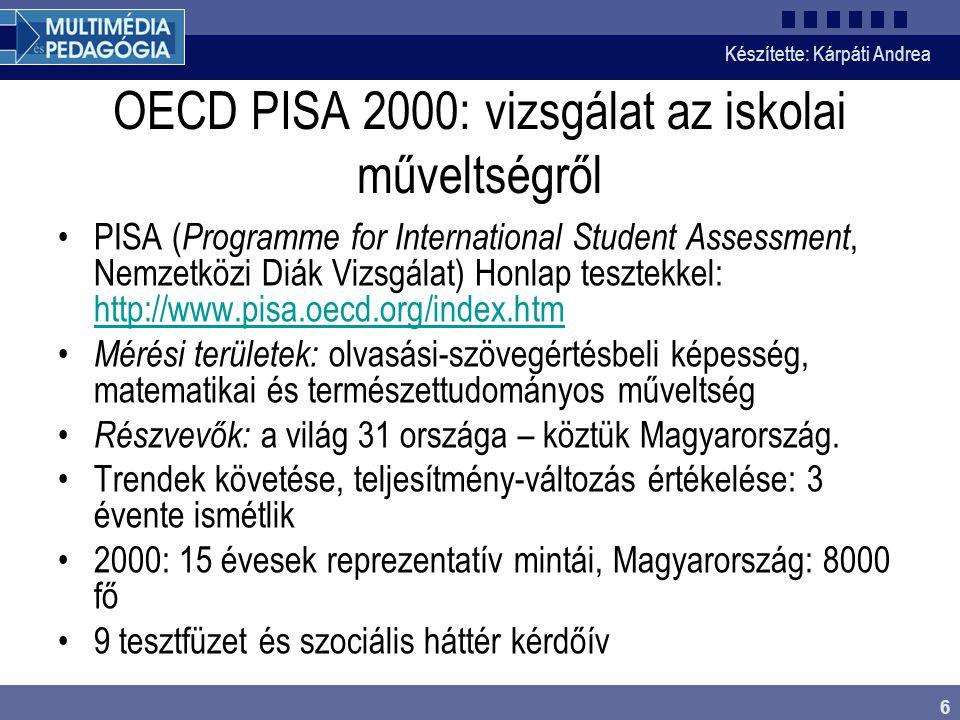 OECD PISA 2000: vizsgálat az iskolai műveltségről