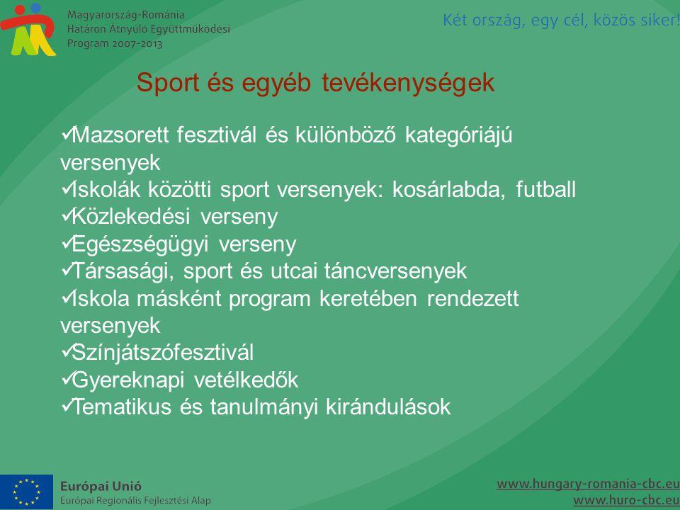 Sport és egyéb tevékenységek