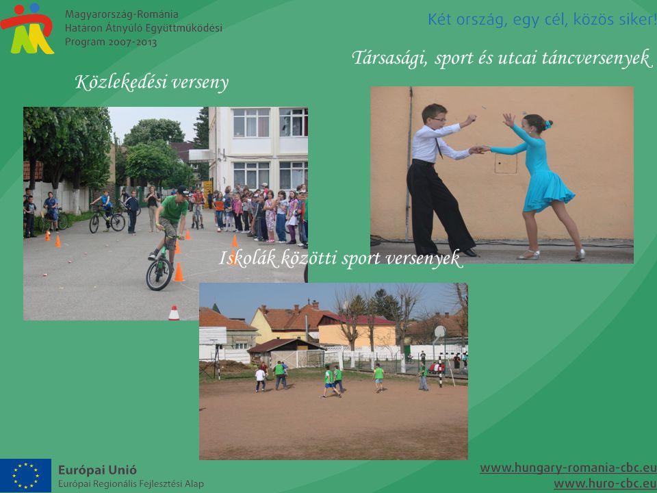 Társasági, sport és utcai táncversenyek