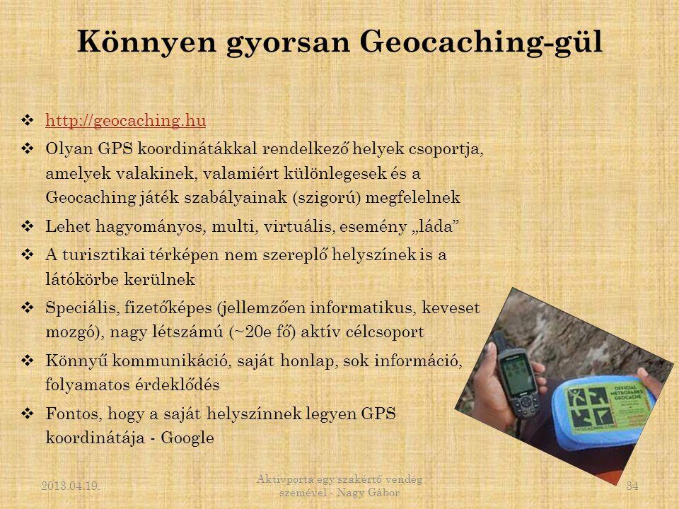 Könnyen gyorsan Geocaching-gül