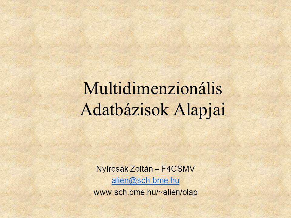 Multidimenzionális Adatbázisok Alapjai