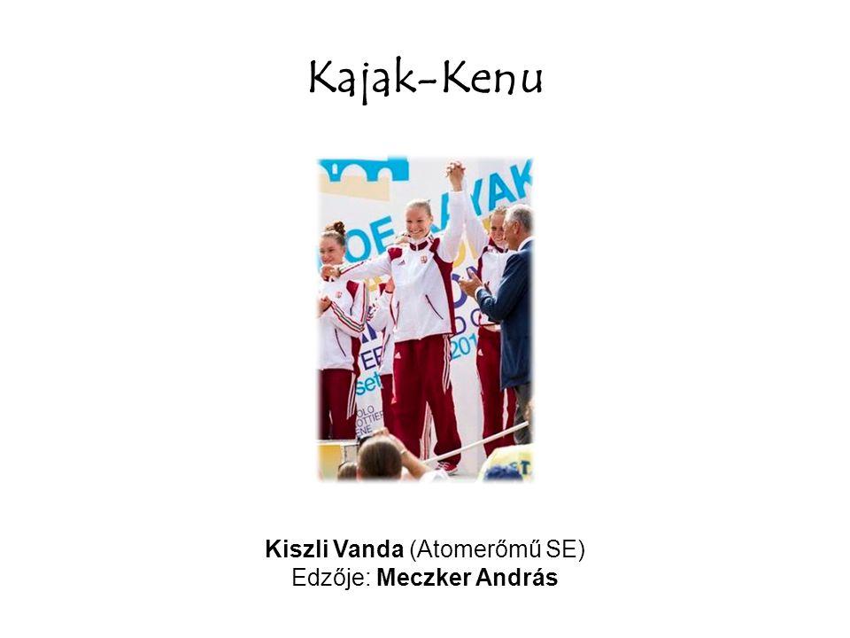 Kajak-Kenu Kiszli Vanda (Atomerőmű SE) Edzője: Meczker András