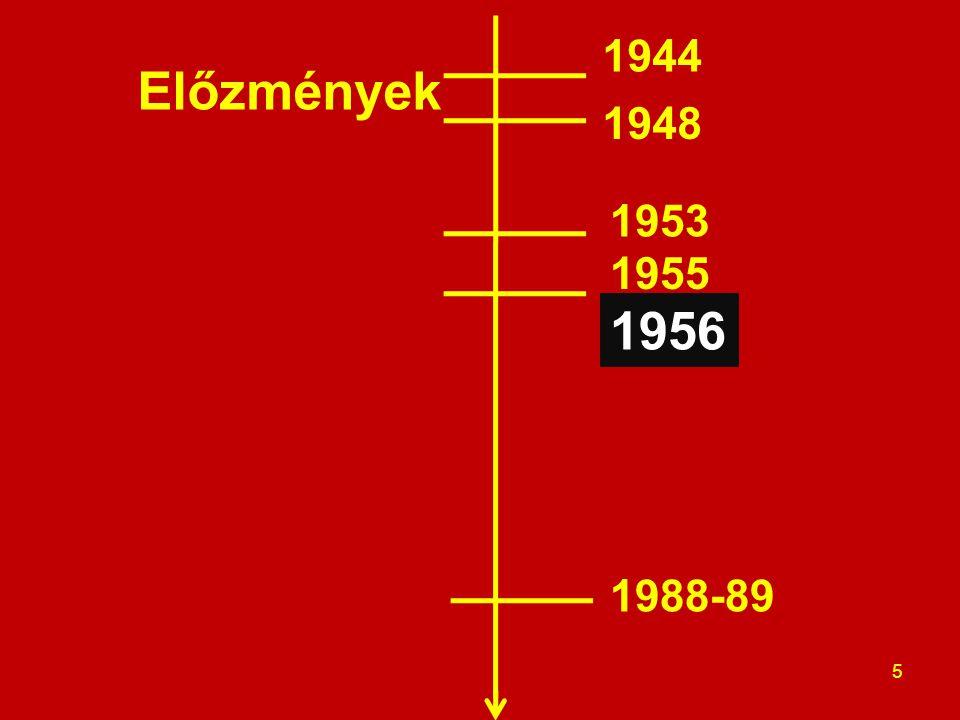1944 Előzmények 1948 1953 1955 1956 1988-89