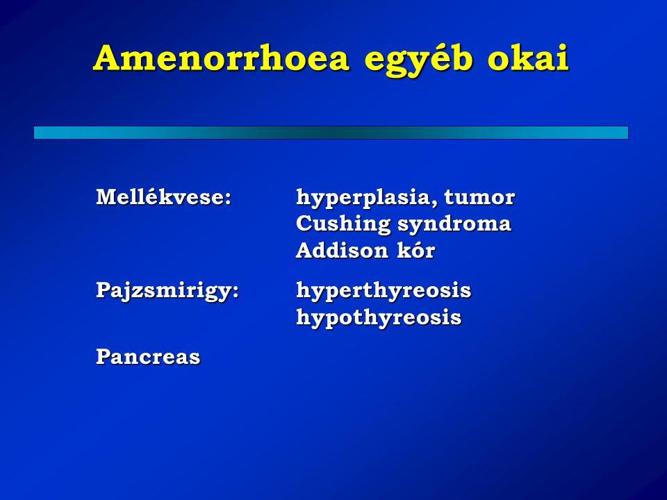 Amenorrhoea egyéb okai
