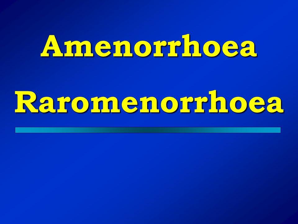 Amenorrhoea Raromenorrhoea