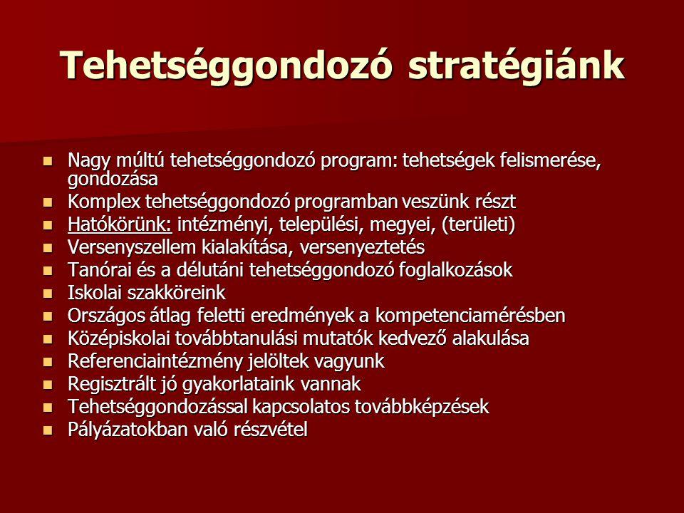 Tehetséggondozó stratégiánk