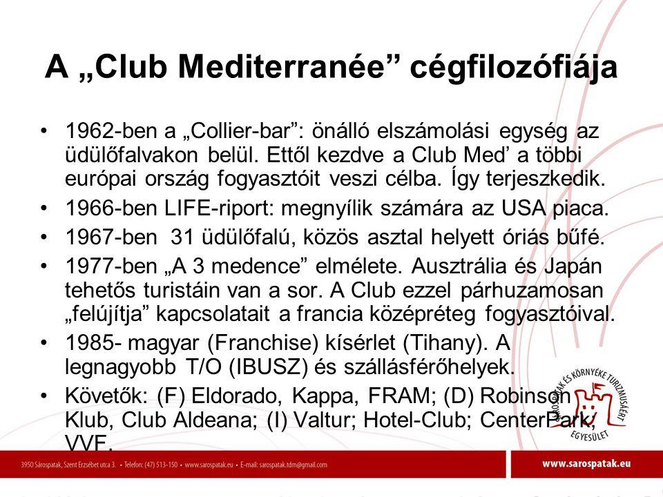 "A ""Club Mediterranée cégfilozófiája"