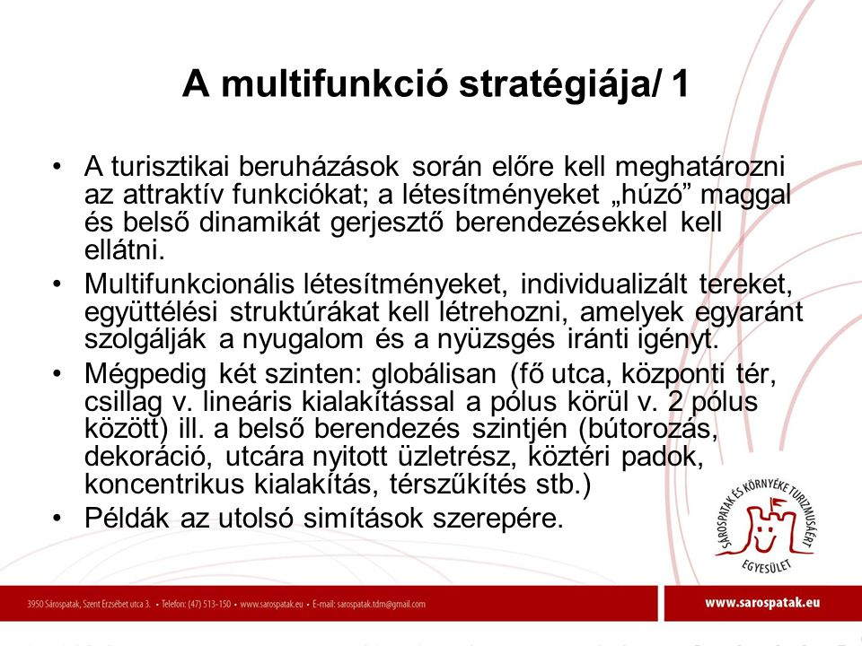 A multifunkció stratégiája/ 1