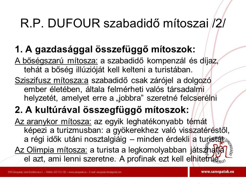 R.P. DUFOUR szabadidő mítoszai /2/