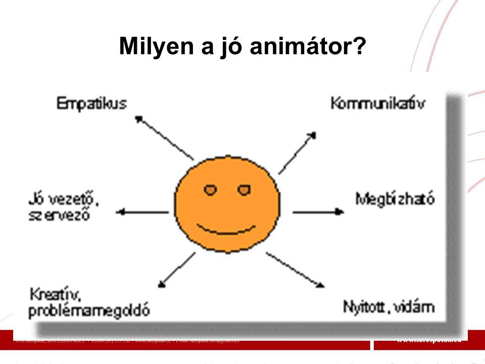 Milyen a jó animátor