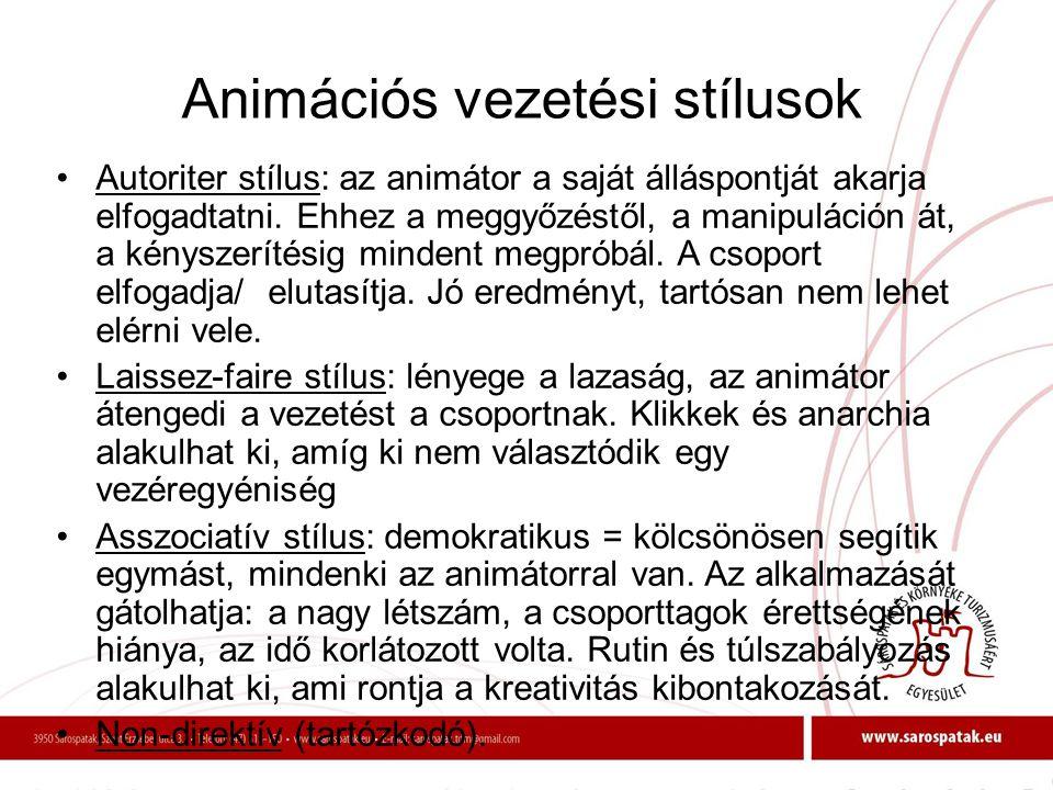 Animációs vezetési stílusok