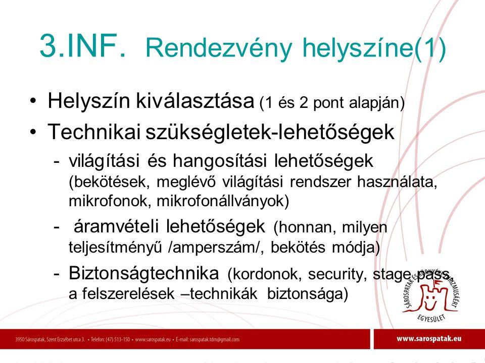 3.INF. Rendezvény helyszíne(1)