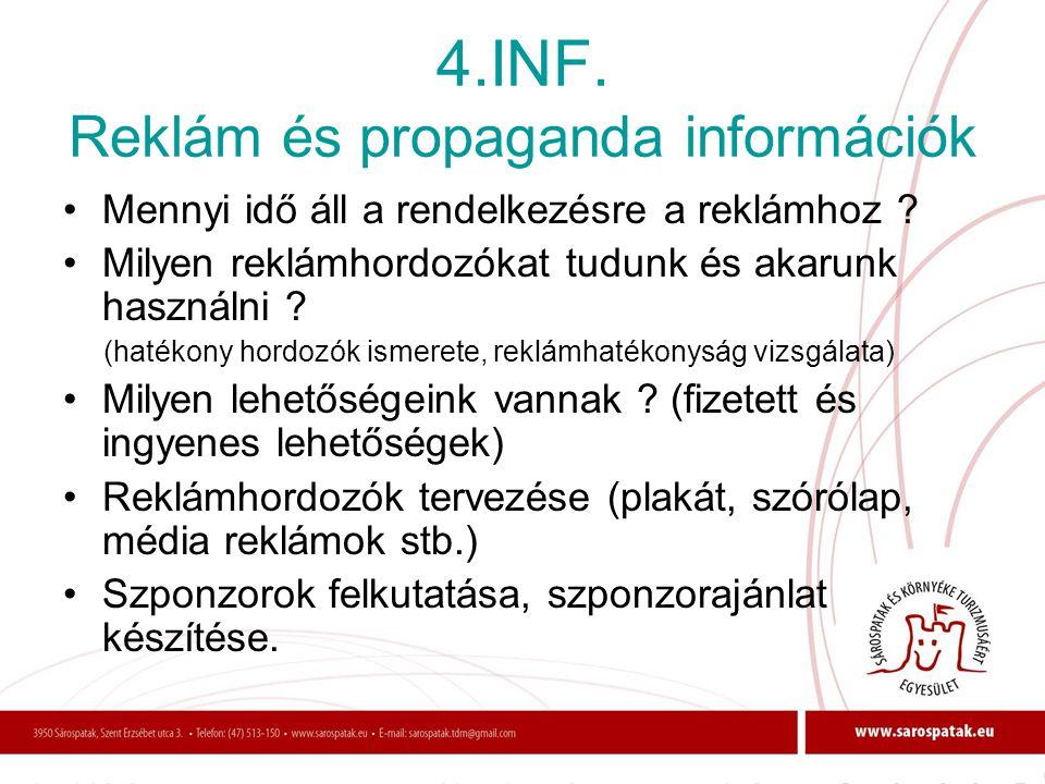 4.INF. Reklám és propaganda információk