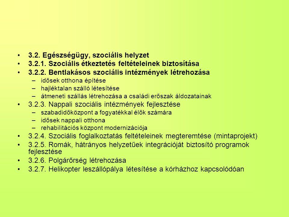 3.2. Egészségügy, szociális helyzet