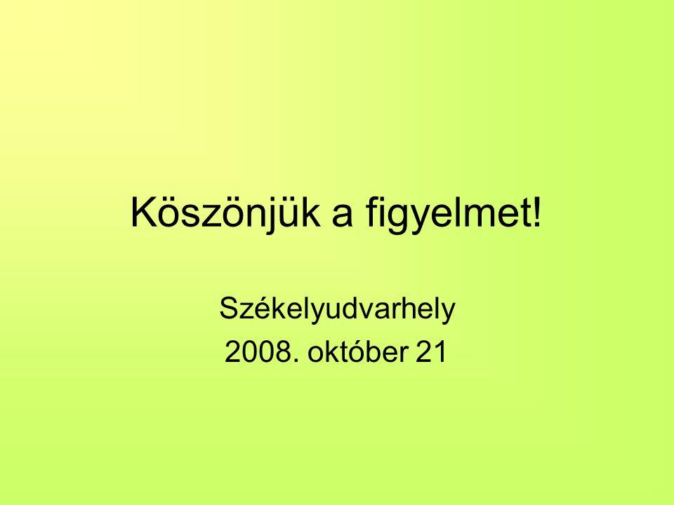 Székelyudvarhely 2008. október 21