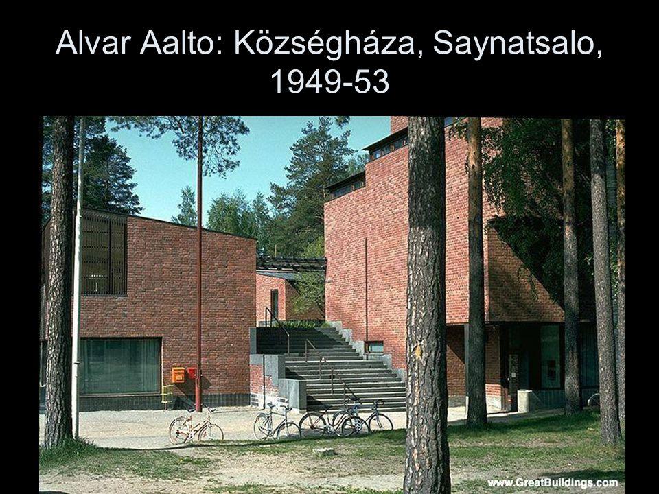 Alvar Aalto: Községháza, Saynatsalo, 1949-53