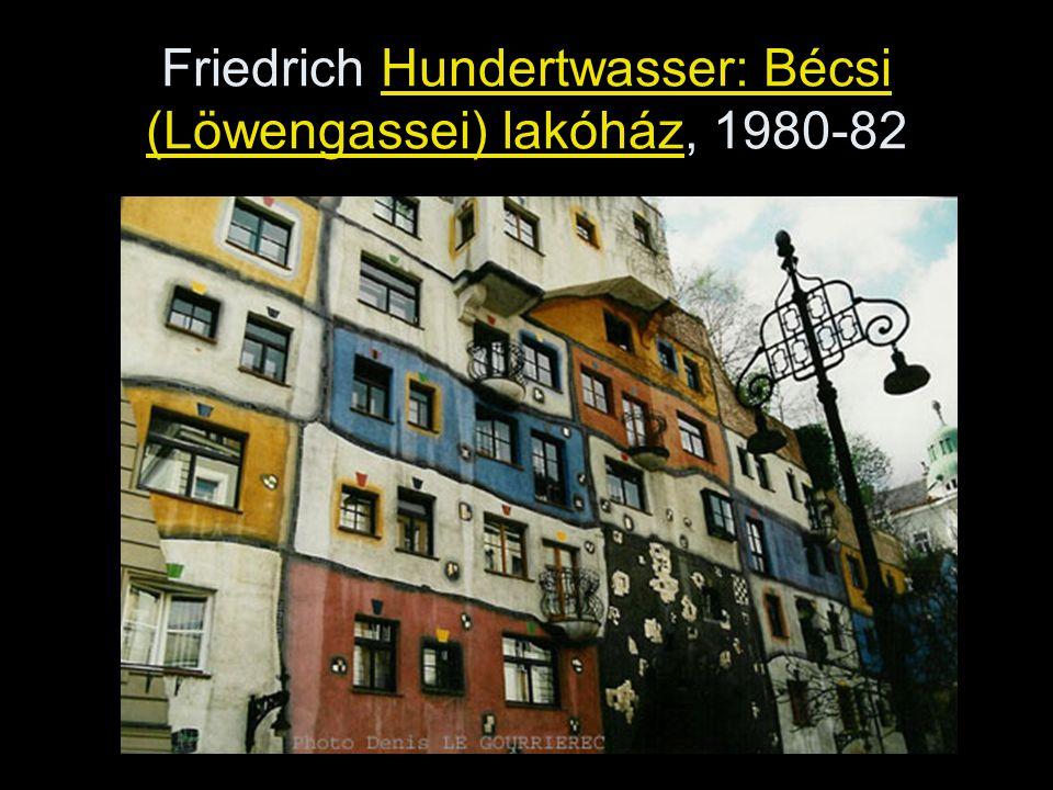 Friedrich Hundertwasser: Bécsi (Löwengassei) lakóház, 1980-82