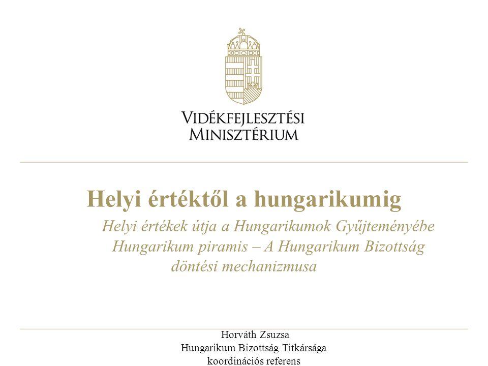 Horváth Zsuzsa Hungarikum Bizottság Titkársága koordinációs referens