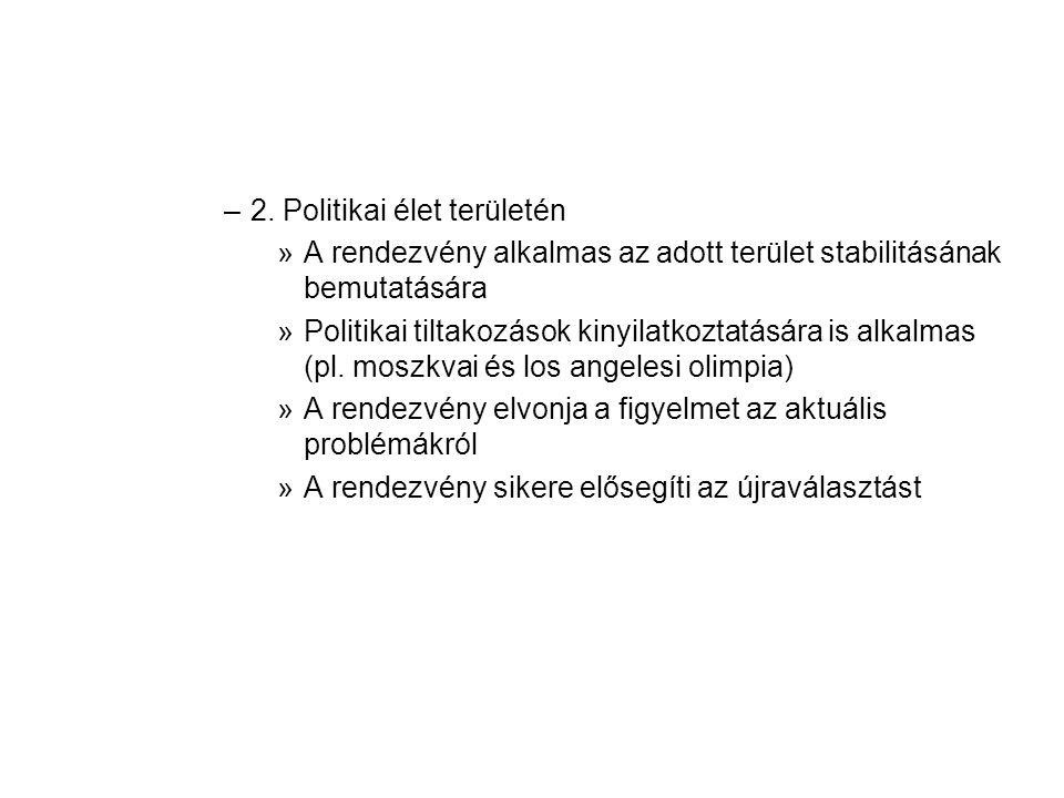 2. Politikai élet területén