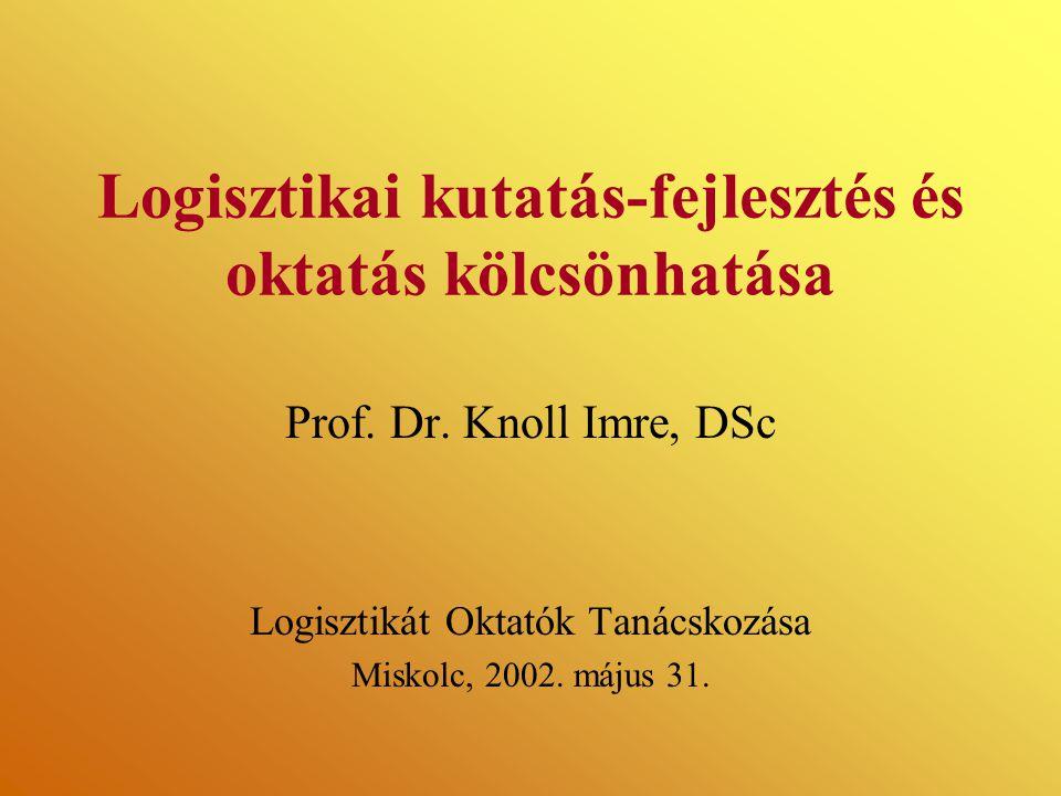 Logisztikai kutatás-fejlesztés és oktatás kölcsönhatása