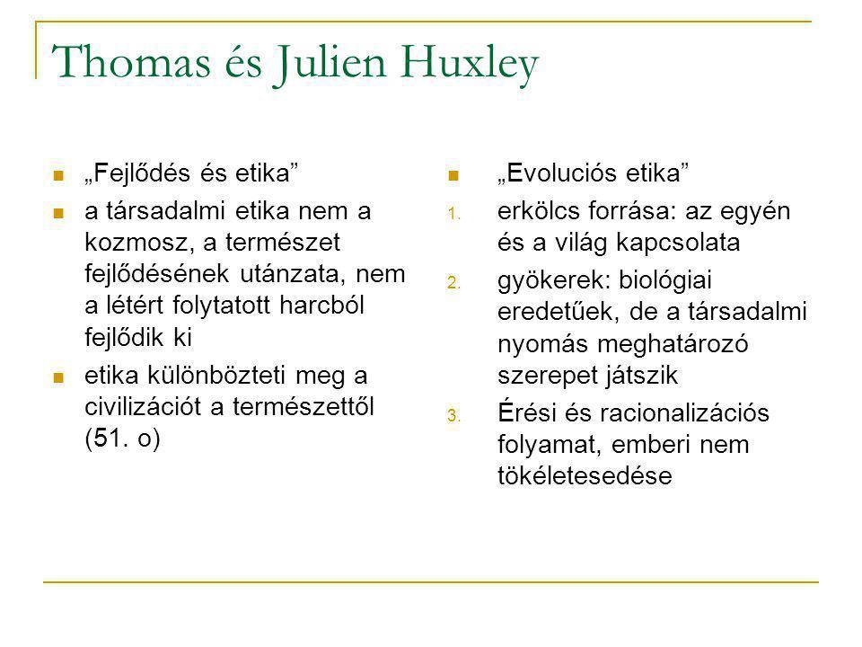 Thomas és Julien Huxley