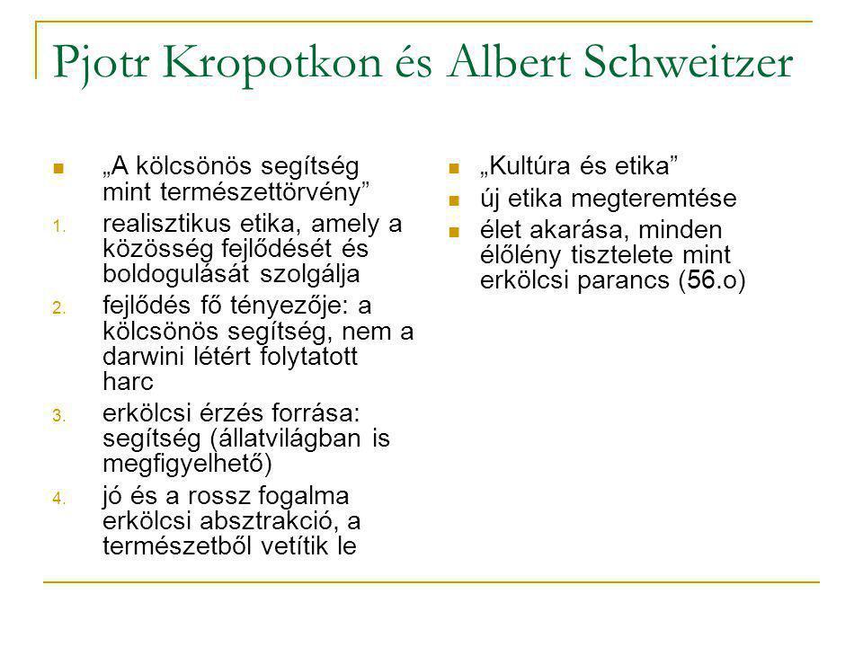 Pjotr Kropotkon és Albert Schweitzer