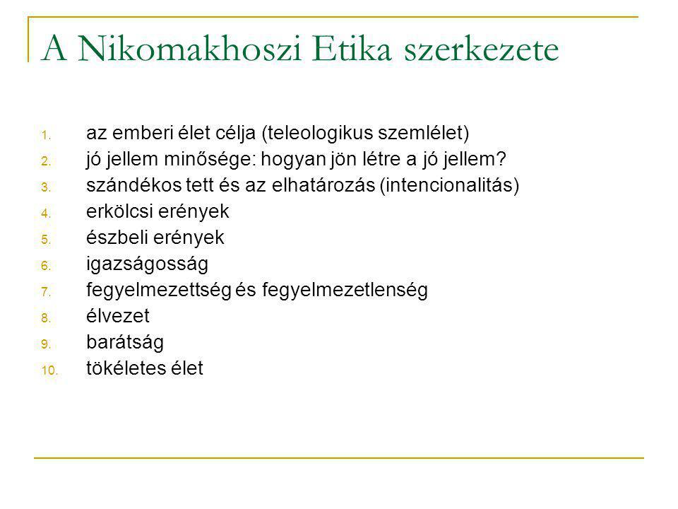 A Nikomakhoszi Etika szerkezete