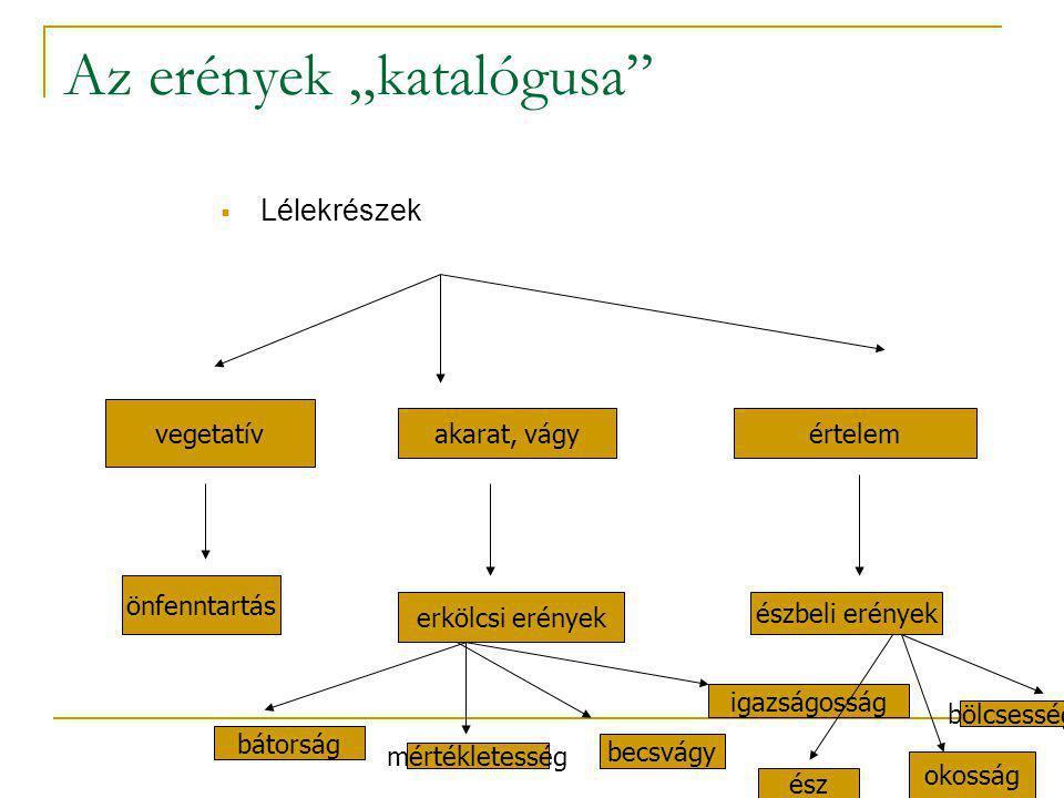 """Az erények """"katalógusa"""