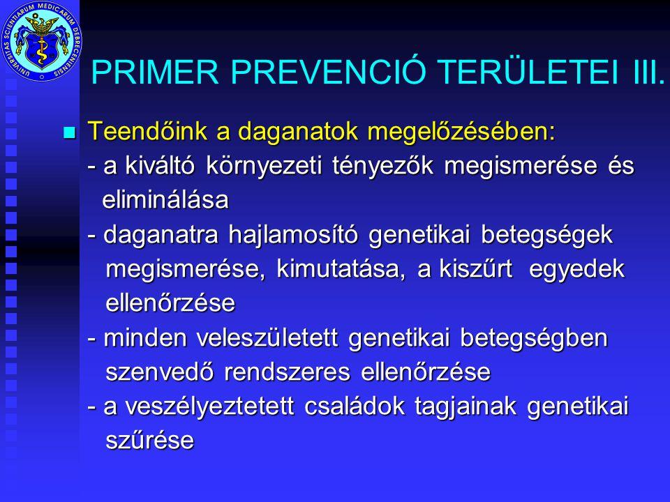 PRIMER PREVENCIÓ TERÜLETEI III.