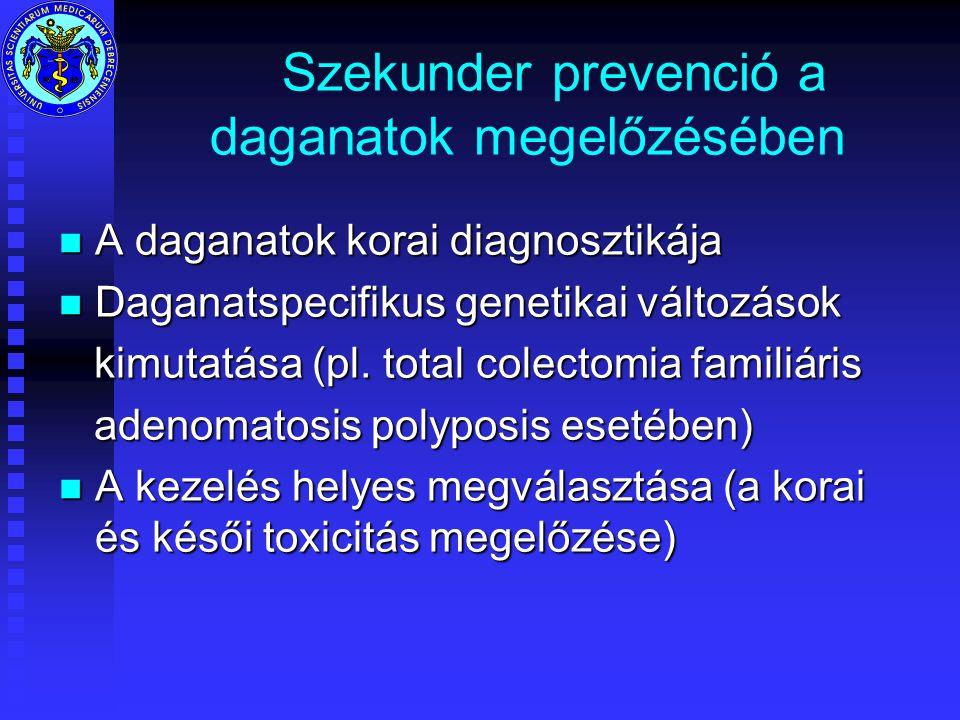 Szekunder prevenció a daganatok megelőzésében