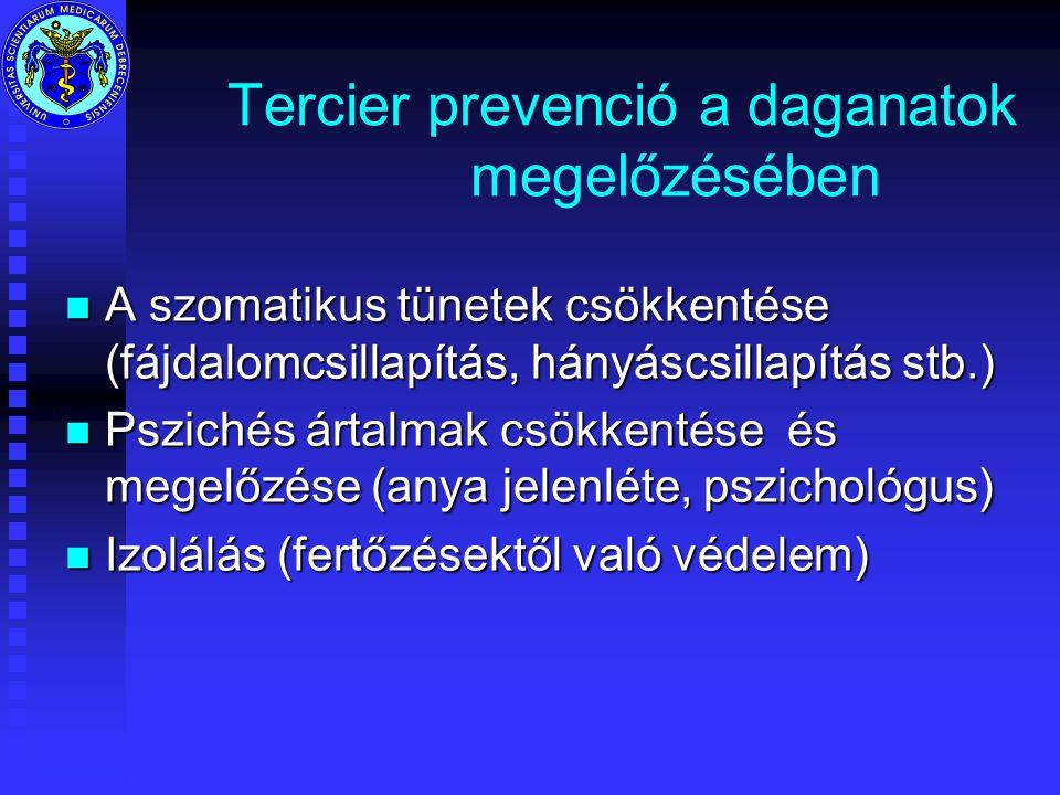 Tercier prevenció a daganatok megelőzésében
