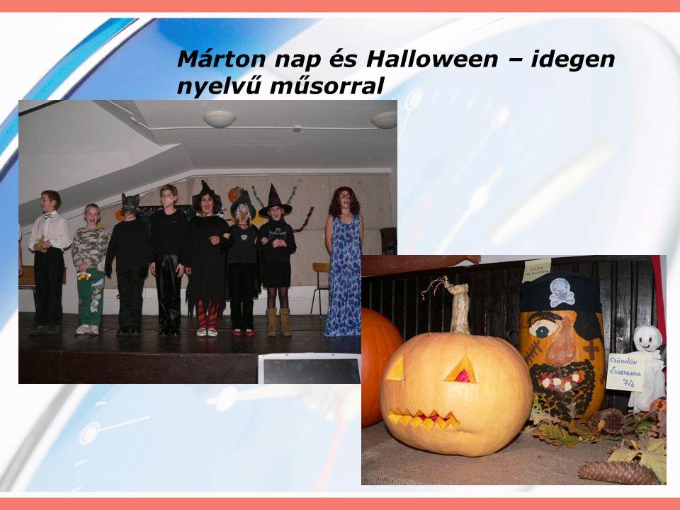 Márton nap és Halloween – idegen nyelvű műsorral