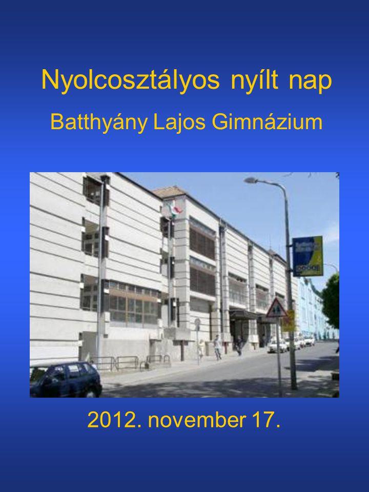 Nyolcosztályos nyílt nap Batthyány Lajos Gimnázium