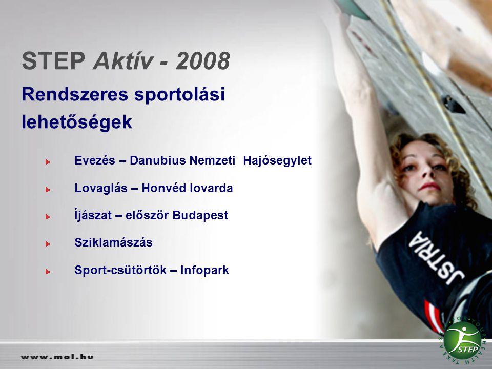 STEP Aktív - 2008 Rendszeres sportolási lehetőségek
