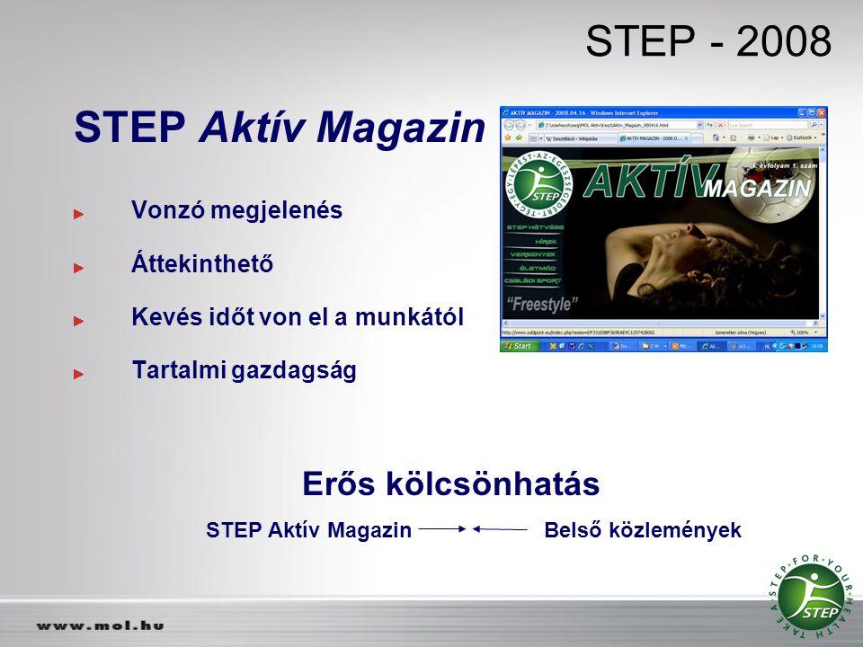 STEP Aktív Magazin Belső közlemények