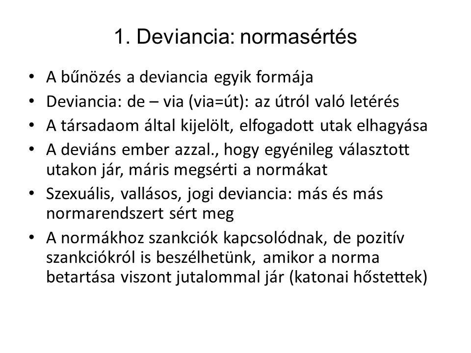 1. Deviancia: normasértés