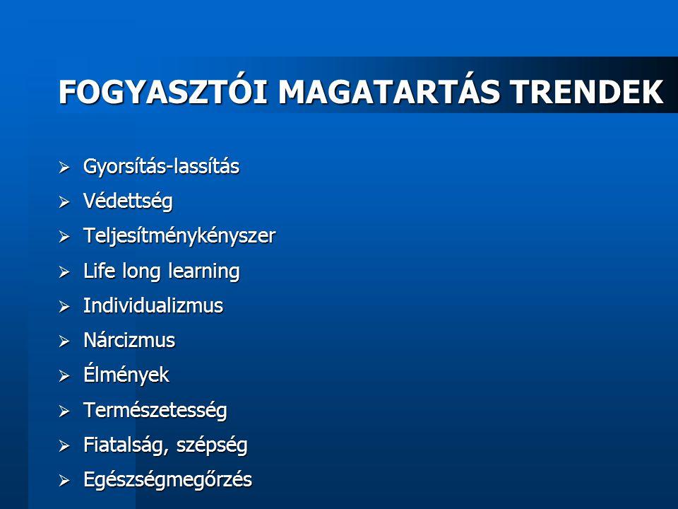FOGYASZTÓI MAGATARTÁS TRENDEK