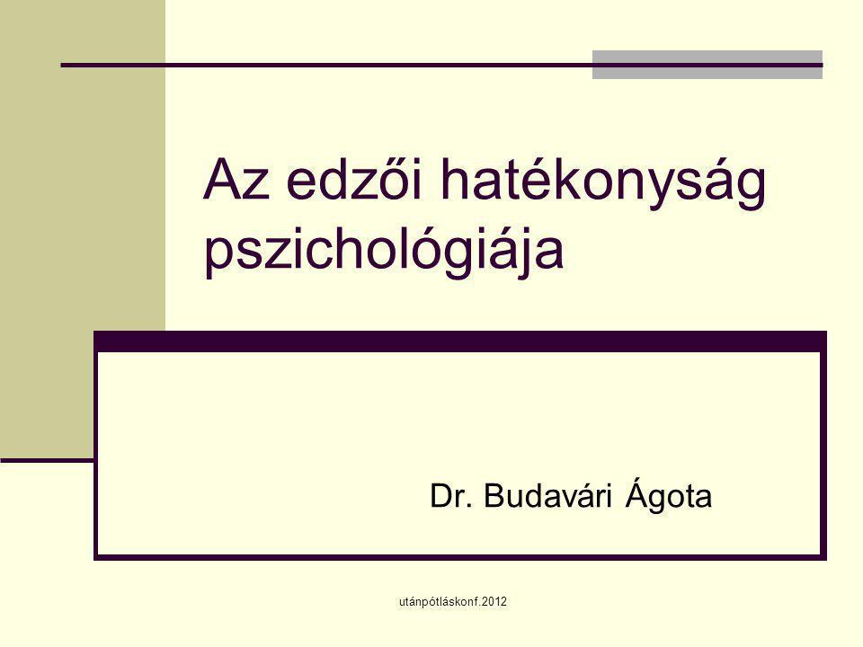 Az edzői hatékonyság pszichológiája