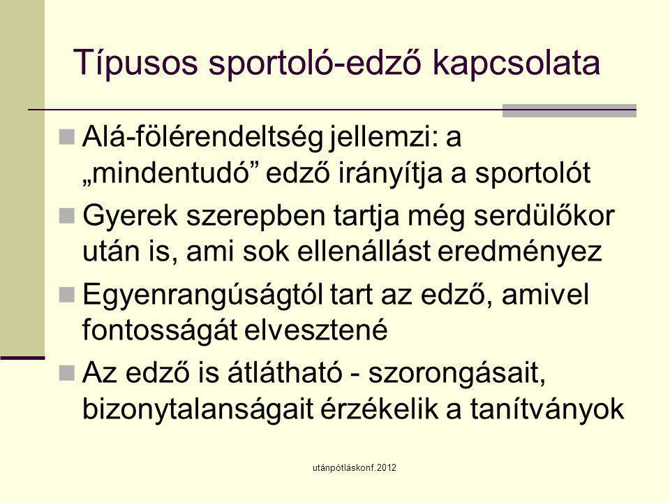 Típusos sportoló-edző kapcsolata