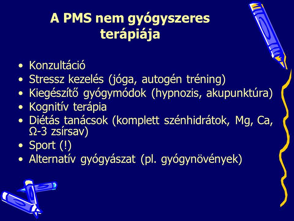 A PMS nem gyógyszeres terápiája