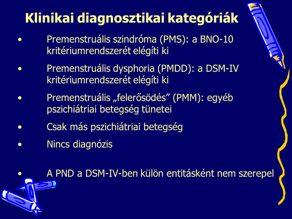 Klinikai diagnosztikai kategóriák