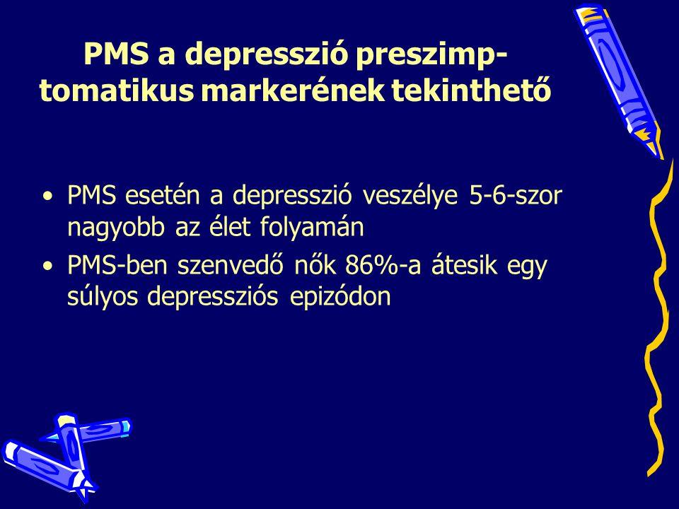 PMS a depresszió preszimp-tomatikus markerének tekinthető