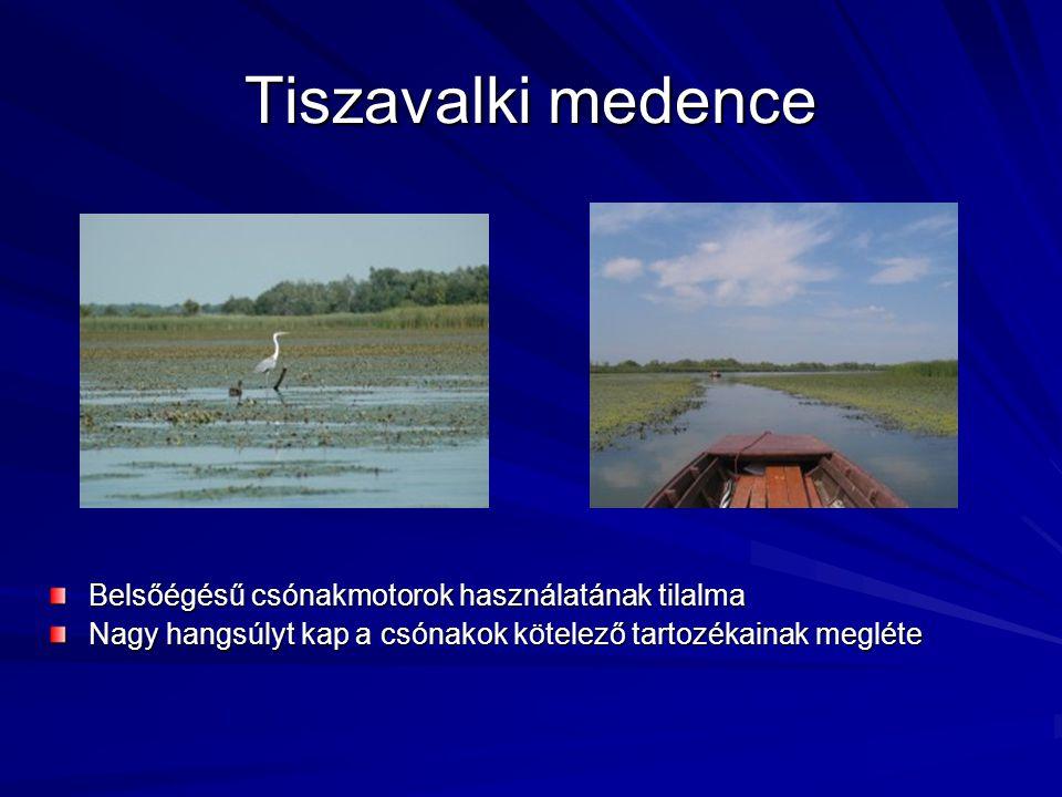 Tiszavalki medence Belsőégésű csónakmotorok használatának tilalma