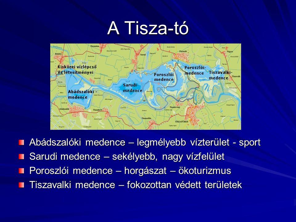 A Tisza-tó Abádszalóki medence – legmélyebb vízterület - sport